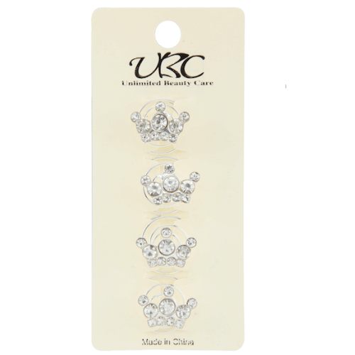 Unlimited Beauty Care Hair Pins Crown Themed Pins