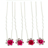 Unlimited Beauty Care Hair Pins Darker Pink Flower Decorative Hair Pins