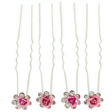 Unlimited Beauty Care Hair Pins Pink Flower Decorative Hair Pins