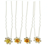 Unlimited Beauty Care Hair Pins Yellow/Gold Flower Decorative Hair Pins