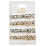 Unlimited Beauty Care Hair Snaps Metal Snaps with Jewels - 4 pieces