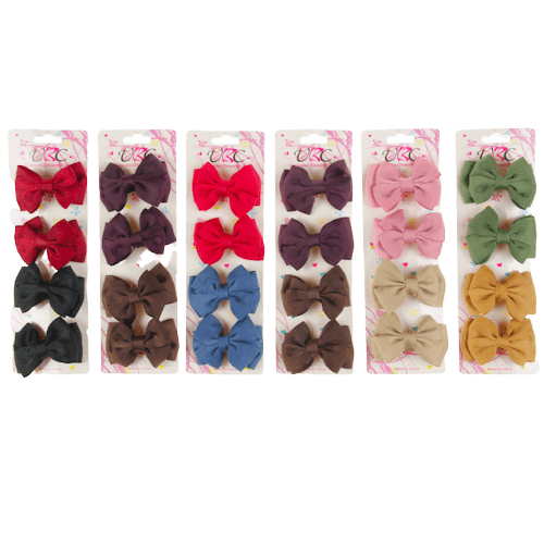 Unlimited Beauty Care Hair Snaps Ripple Fabric Bow Hair Snap