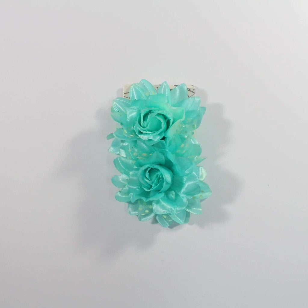 Unlimited Beauty Care Hair Snaps Turquoise Flower Hair Snap