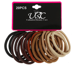 Unlimited Beauty Care Hair Ties Black and Shades of Brown Hair Ties (20 pieces)