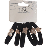 Unlimited Beauty Care Hair Ties Black Hair Ties With Golden Different Shapes (5 pieces)