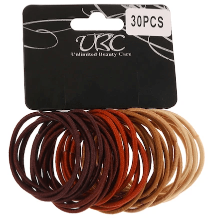 Unlimited Beauty Care Hair Ties Brown Shades Hair Tie- 30 pieces