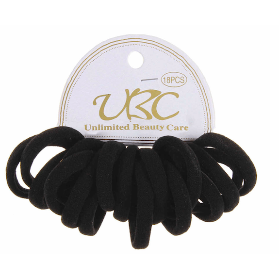 Unlimited Beauty Care Hair Ties Cotton Hair Bands- Black