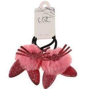 Unlimited Beauty Care Hair Ties Light Red Cat Ear Pom Pom Hair Tie