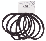 Unlimited Beauty Care Hair Ties Long Hair Ties - Black (6 pieces)