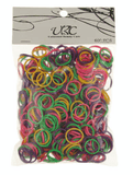 Unlimited Beauty Care Hair Ties Multicolor Braided Rubber Bands (600 pieces)