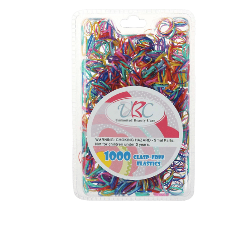 Unlimited Beauty Care Hair Ties Multicolor Clasp Free Elastic Rubber Bands - 1000 pieces
