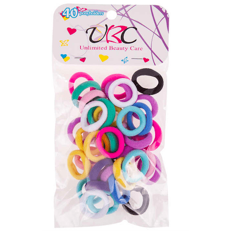 Unlimited Beauty Care Hair Ties Multicolor Mini Hair Ties (40 pieces)
