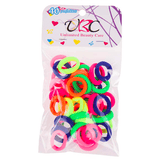 Unlimited Beauty Care Hair Ties Multicolor Neon Mini Hair Ties  (40 pieces)