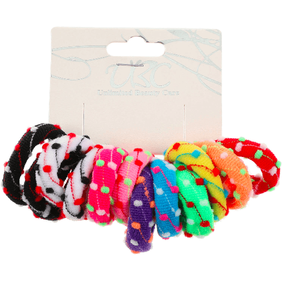 Unlimited Beauty Care Hair Ties Multicolor Ponytail Holders (12 pieces)
