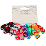 Unlimited Beauty Care Hair Ties Multicolor Ponytail Holders with Zig Zag design (12 pieces)