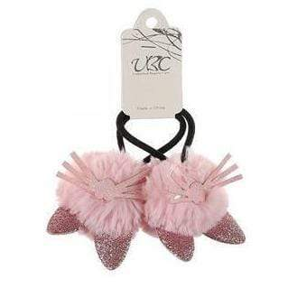 Unlimited Beauty Care Hair Ties Pink Cat Ear Pom Pom Hair Tie