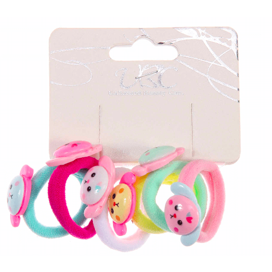 Ponytail Holder with Mini Dogs (6 pieces)