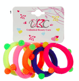 Unlimited Beauty Care Hair Ties Set 1 Colorful Ponytail Holders with Stones