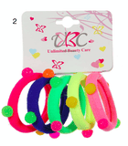 Unlimited Beauty Care Hair Ties Set 2 Colorful Ponytail Holders with Stones