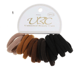 Unlimited Beauty Care Hair Ties Shades of Brown Multicolor Hair Bands - 18 pieces