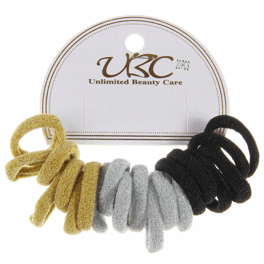 Unlimited Beauty Care Hair Ties Sparkling Elastic Ponytail Hairbands (20 pieces)