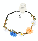 Unlimited Beauty Care Headbands 2 Flowers on Vine Elastic Headband