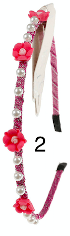Unlimited Beauty Care Headbands 2 Multicolor Flower Headbands with Pearls
