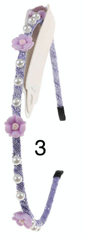 Unlimited Beauty Care Headbands 3 Multicolor Flower Headbands with Pearls