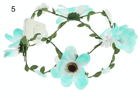 Unlimited Beauty Care Headbands 5 Flowers on Vine Headband