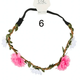 Unlimited Beauty Care Headbands 6 Flowers on Vine Elastic Headband