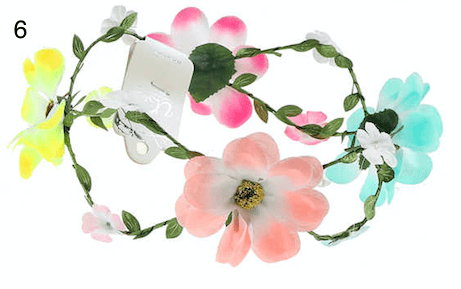 Unlimited Beauty Care Headbands 6 Flowers on Vine Headband