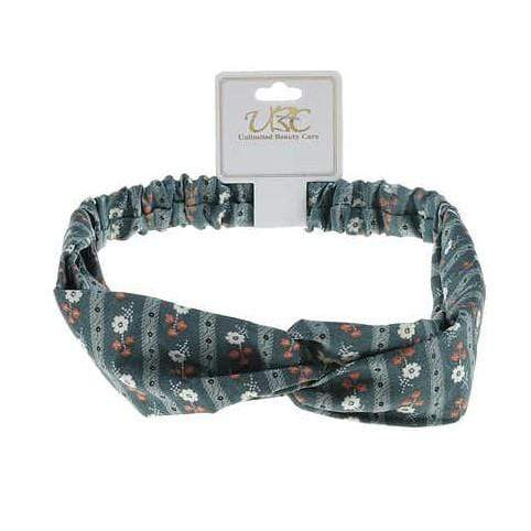 Unlimited Beauty Care Headbands Blue Flower Print Twisted Headwrap