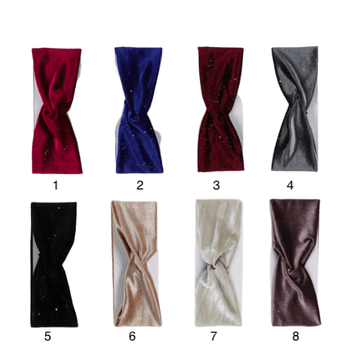 Unlimited Beauty Care Headbands Knotted Velvet Headwrap