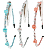 Unlimited Beauty Care Headbands Multicolor Flower Headbands with Pearls