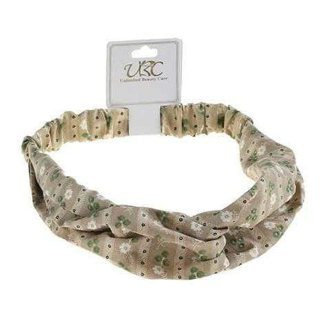 Unlimited Beauty Care Headbands Olive Flower Print Twisted Headwrap