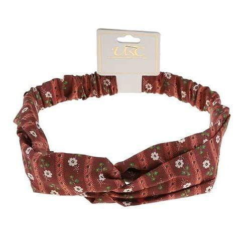 Unlimited Beauty Care Headbands Red Flower Print Twisted Headwrap