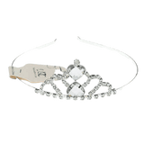 Unlimited Beauty Care Headbands Silver Crown Design Headband with Heart Stone Tiara