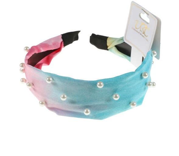 Unlimited Beauty Care Headbands Tie Dye Pearl Embedded Headbands