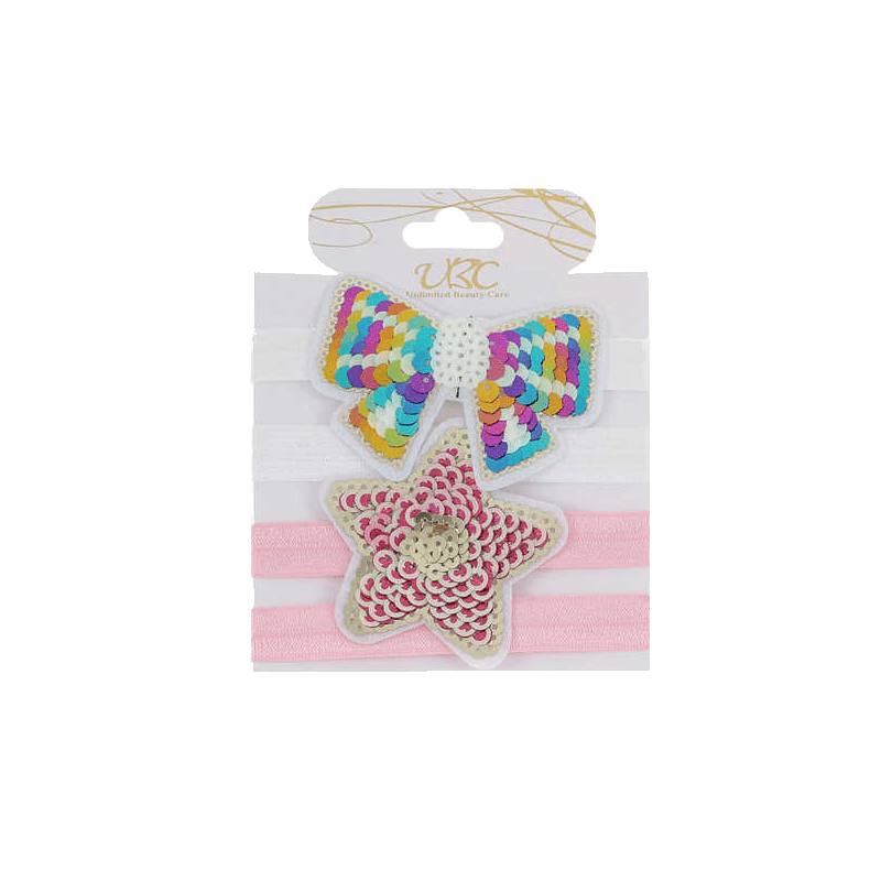 Star and Bow Sequin Headband