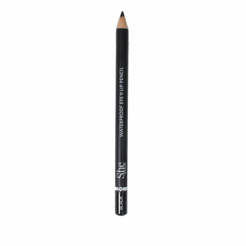 S.he Makeup Lipliner Black Waterproof Eye/Lip Pencil