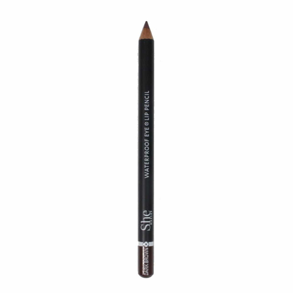 S.he Makeup Lipliner Dark Brown Waterproof Eye/Lip Pencil