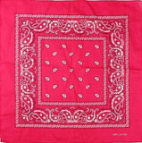Unlimited Beauty Care Masks Hot Pink Paisley Bandana Scarf (20 Colors)