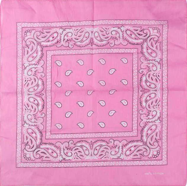Unlimited Beauty Care Masks Pink Paisley Bandana Scarf (20 Colors)