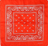 Unlimited Beauty Care Masks Red Paisley Bandana Scarf (20 Colors)