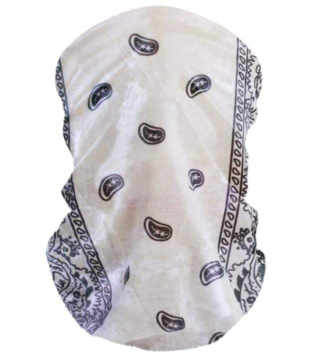 Unlimited Beauty Care Masks White Tube Scarf Bandana Mouth Face Mask Neck Cover