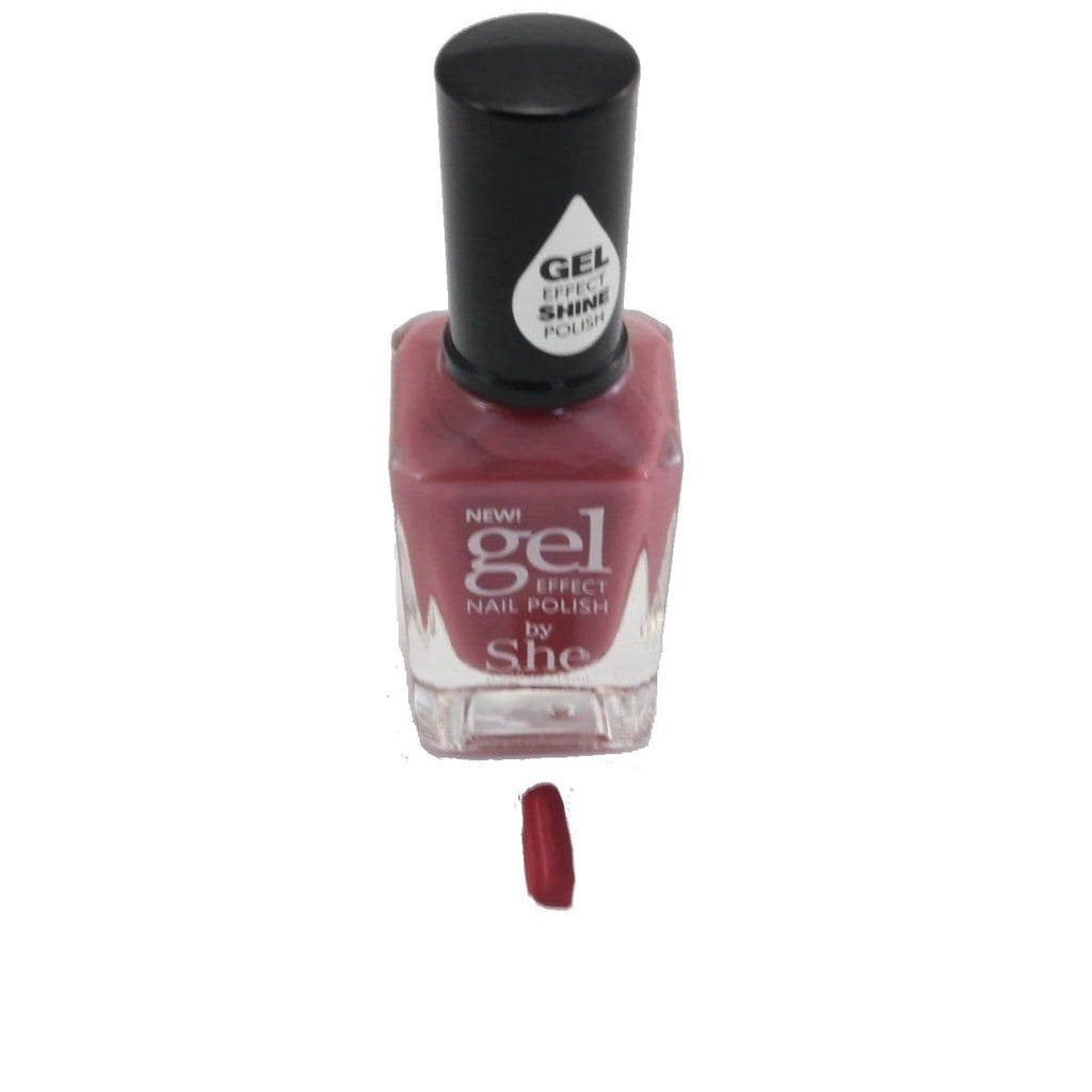 S.he Makeup Nail Polish S.he Garnet Gel Effect Nail Polish