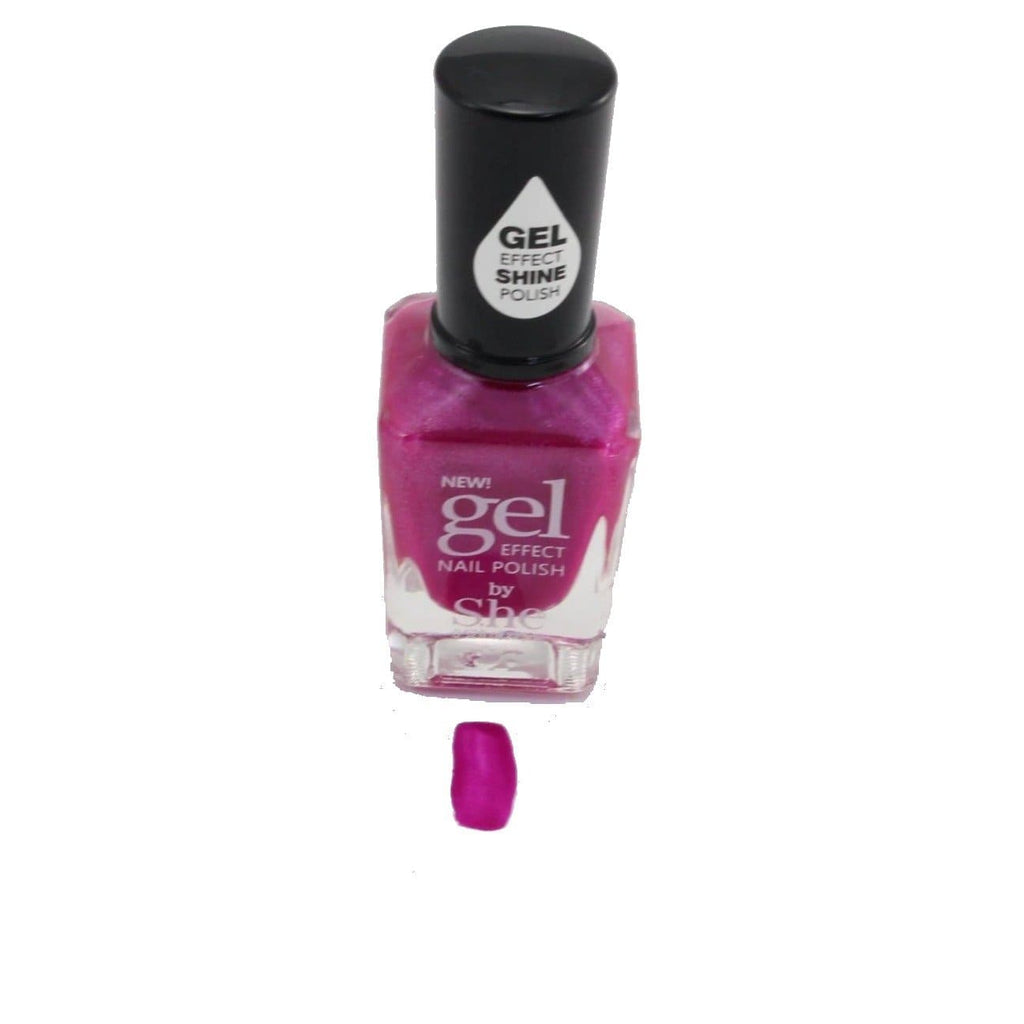 S.he Red Rose Gel Effect Nail Polish