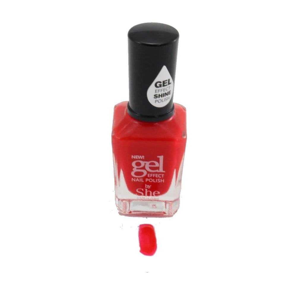 S.he Scarlet Gel Effect Nail Polish