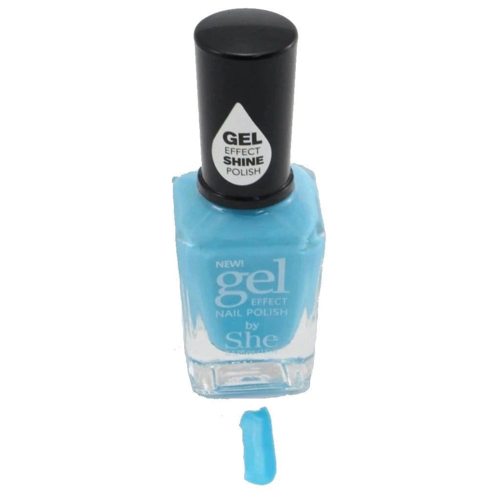 S.he Sky Blue Gel Effect Nail Polish