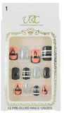 Unlimited Beauty Care Nails 1 Pre-Glued Nails - Multi-Color Patterns (12 pieces)